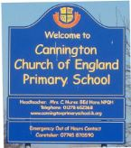 Cannington Primary School sign